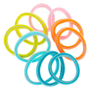 Claire's Club Rainbow Rolled Hair Bobbles - 10 Pack,