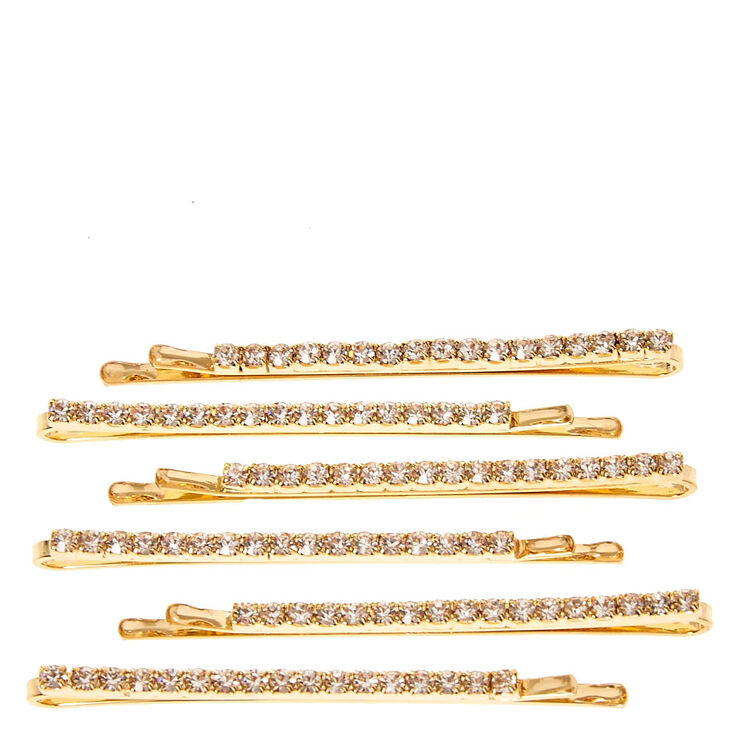 Gold Linear Hair Pins - 6 Pack,