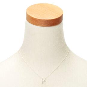 Silver Zodiac Pendant Necklace - Pisces,