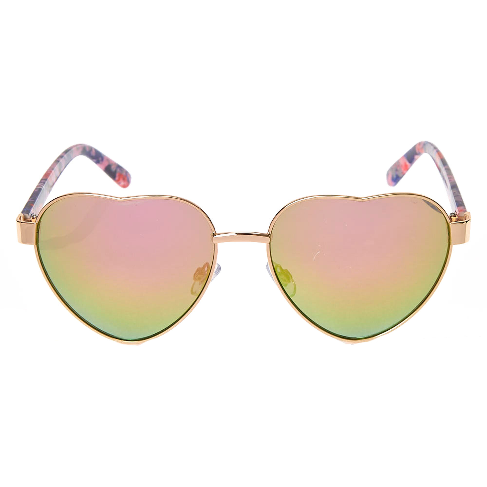 4e68d9bfd8 ... Floral Heart-Shaped Sunglasses