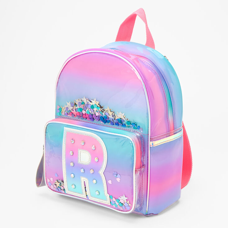 Ombre Shaker Initial Mini Backpack - R,