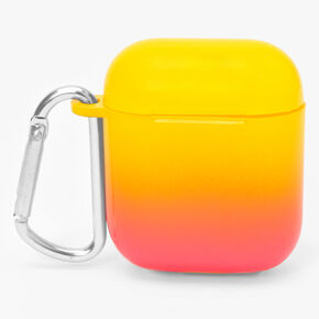 Neon Ombre Earbud Case Cover - Compatible with Apple AirPods,