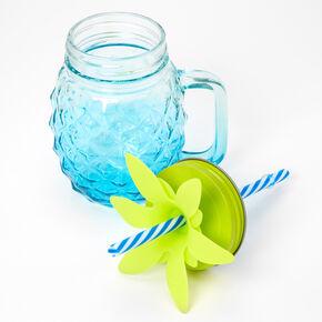 Pineapple Mason Jar Mug - Blue,