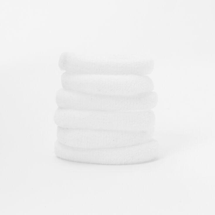 Soft Rolled Hair Bobbles - White, 6 Pack,