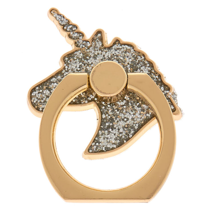 Silver Glitter Unicorn Ring Stand - Gold,