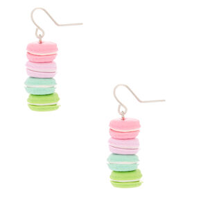 "1"" Rainbow Macaroon Drop Earrings,"