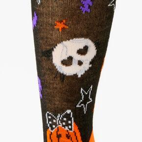 All Over Halloween Crew Socks - Black,