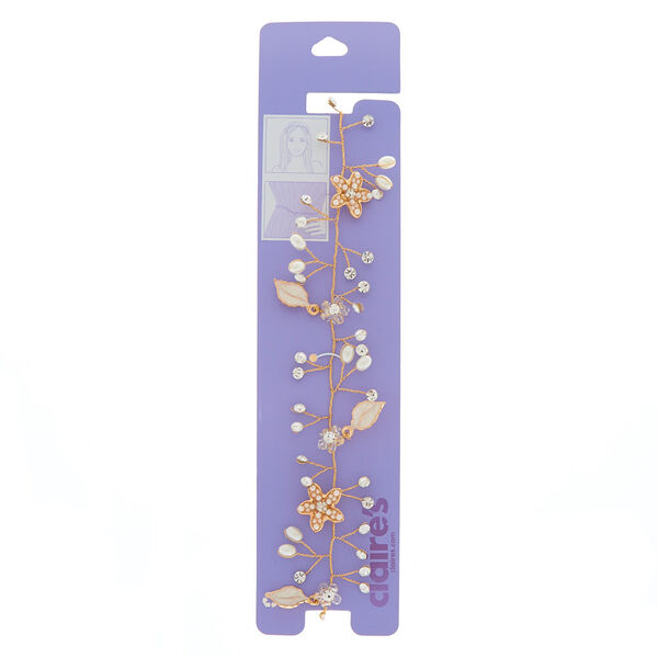 Claire's - 2-in-1 floral belt & headwrap - 1
