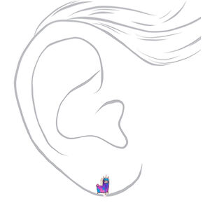 Lala the Llamacorn Clip On Earrings,