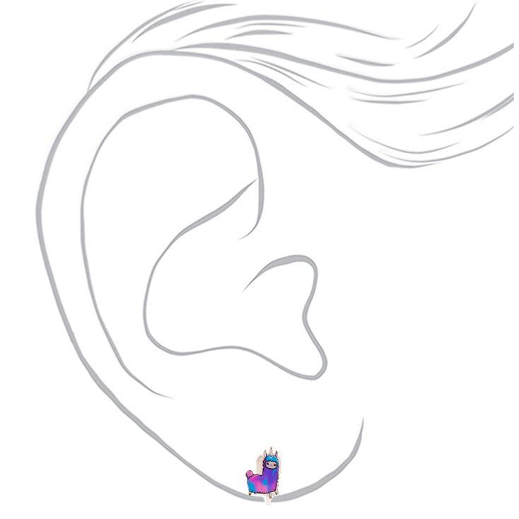 Lala the Llamacorn Clip On Earrings,