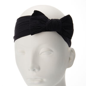 Claire's Club Black Mesh Bow Headwrap,