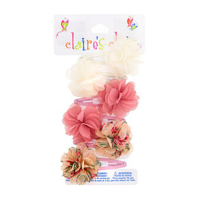 Claire's Club Flower Snap Hair Clips - 6 Pack,