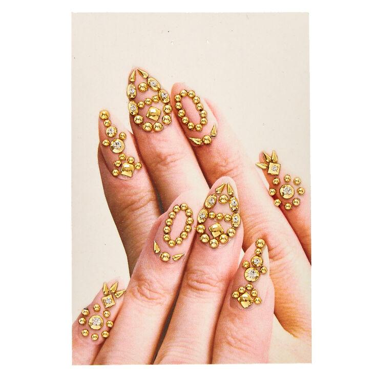 Gemmes pour ongles clous couleur dorés,