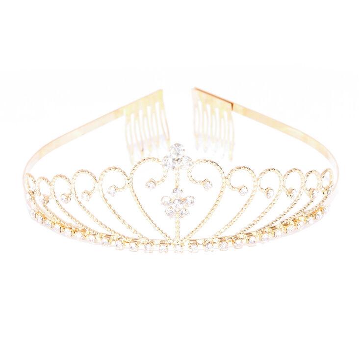 Gold Crystal Daisy Tiara,