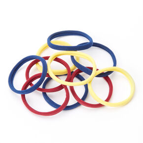 Fall Tone Rolled Hair Ties - 10 Pack,