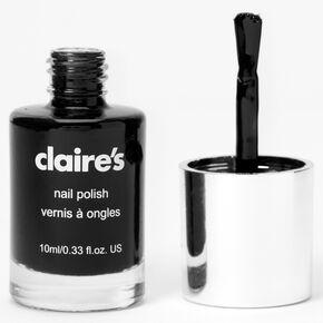 Solid Nail Polish - Black Hole,