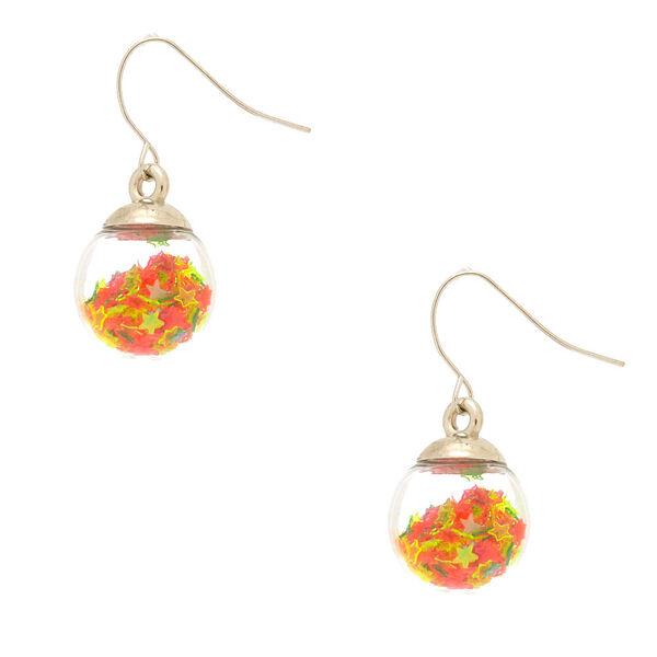Claire's - seasonal star shaker drop earrings - 1