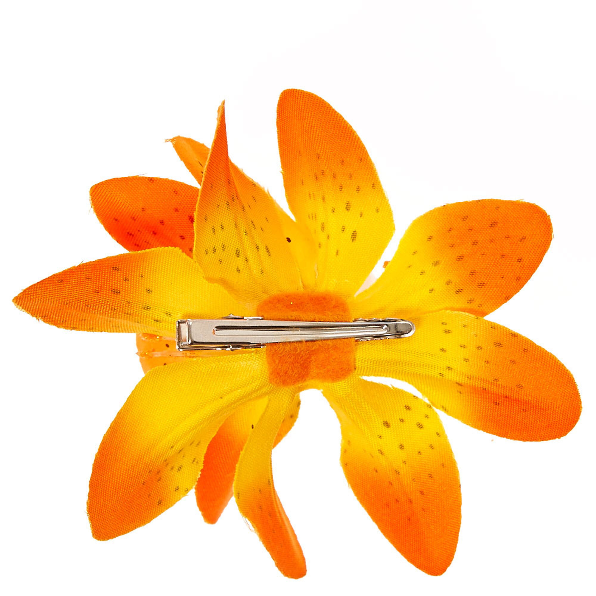 Spotted Orange Double Lily Flower Hair Clip Claires Us