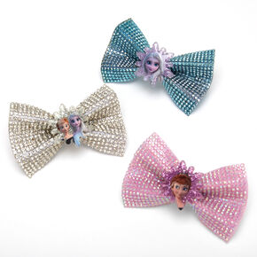 Barrettes à nœud pailletées La Reine des Neiges 2 ©Disney - Lot de 3,