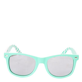Chevron Retro Sunglasses - Mint,
