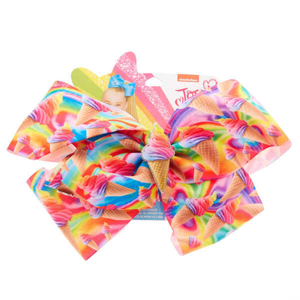 Claire's - jojo siwa™ large signature ice cream craze hair bow - 1