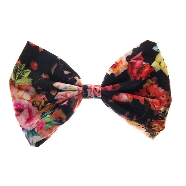 Claire's - large floral bow hair clip - 1