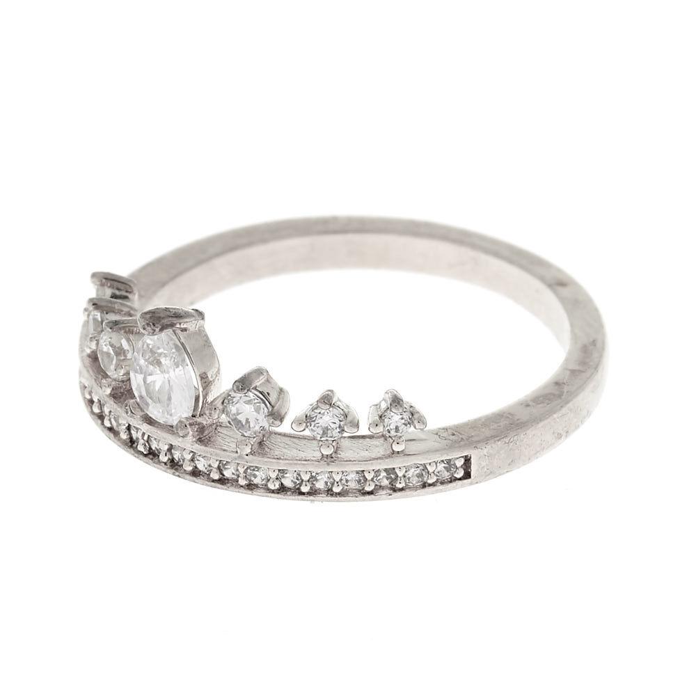 3aef58b7e ... new zealand silver cubic zirconia tiara ring 121ed 5bccf ...