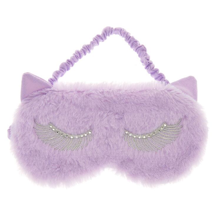 Lilac Cat Ear Sleeping Mask,