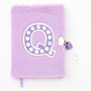 Giant Initial Furry Lock Diary - Q,