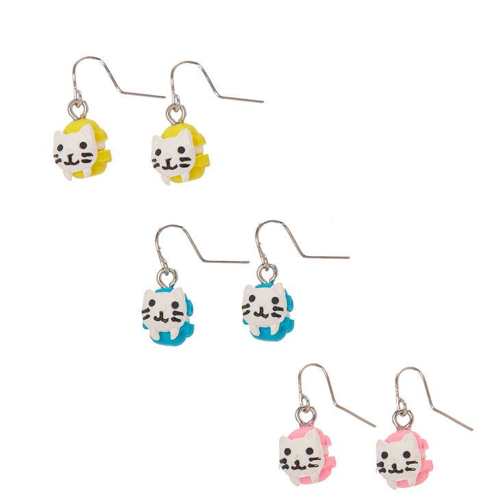 Cat Macaroon Drop Earrings,