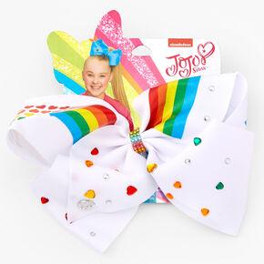 Nœud pour cheveux Pride JoJo Siwa™ - Blanc,