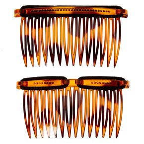 LocALoc® Bandables Tortoiseshell Hair Combs - Brown, 2 Pack,