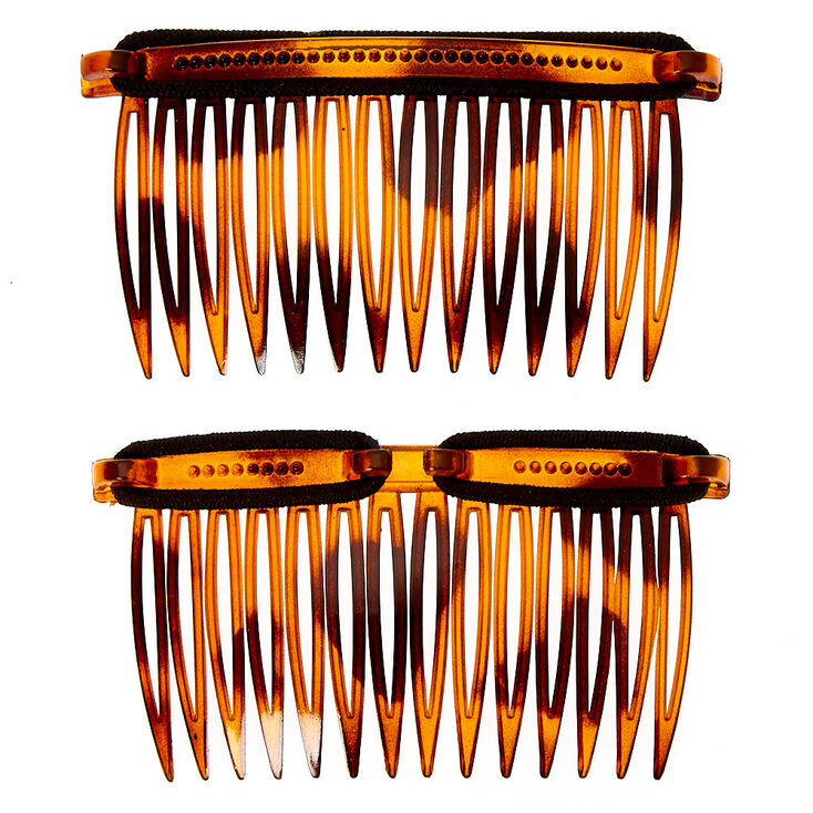 Peignes à cheveux à motif écaille de tortue Bandables LocALoc® - Marron, Lot de 2,