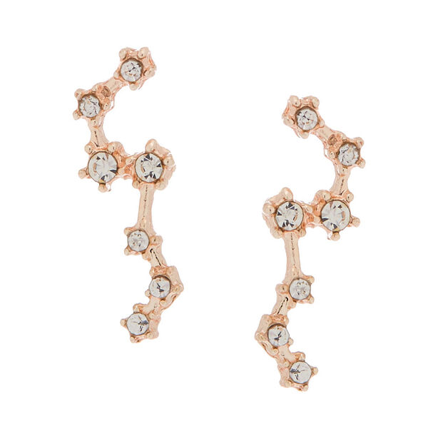 Claire's - rose constellation stud earrings - 1