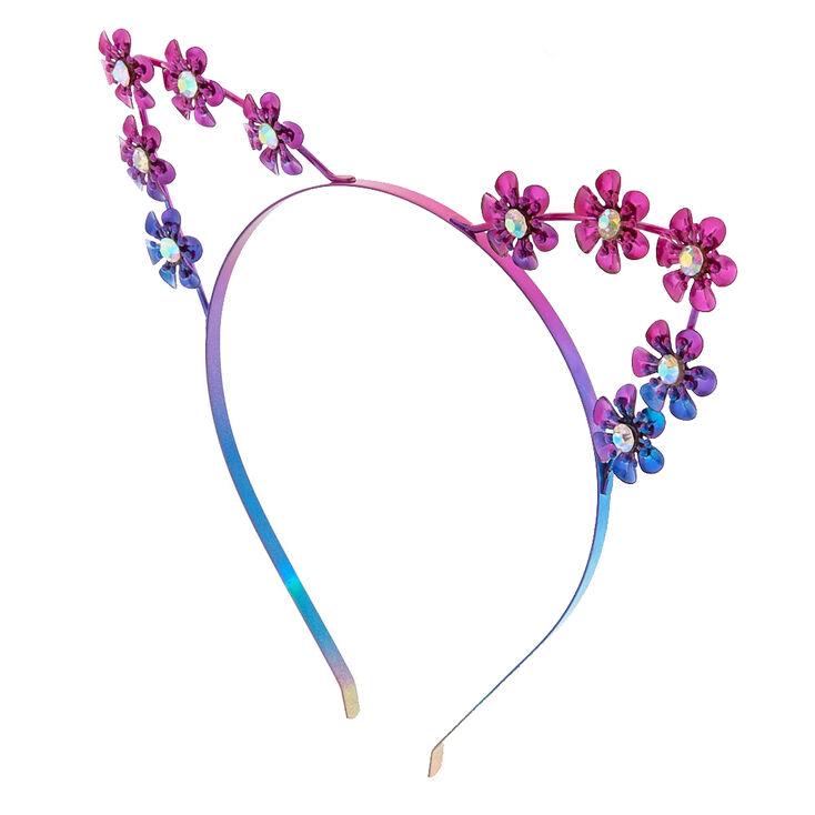 Anodized Metal Flower Cat Ears Headband  65dd0493cbd