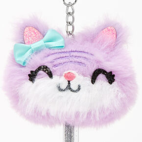 Kitty Mini Keychain Pen - Purple,