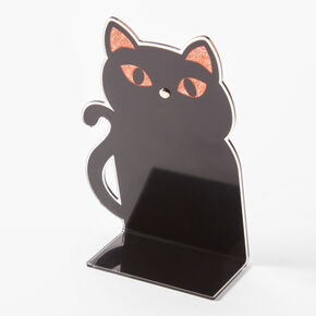 Glitter Black Cat Instax Photo Holder - Black,