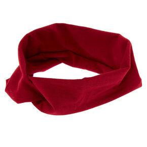 Wide Jersey Burgundy Headwrap,