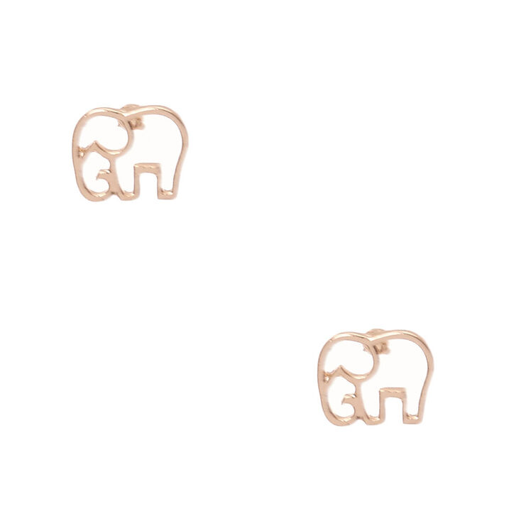 elephant sterling dogeared small stud earrings alt silver