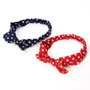 Star Print Knotted Bow Headwraps - 2 Pack,