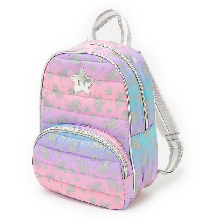 Claire's Club Unicorn Small Backpack - Purple,