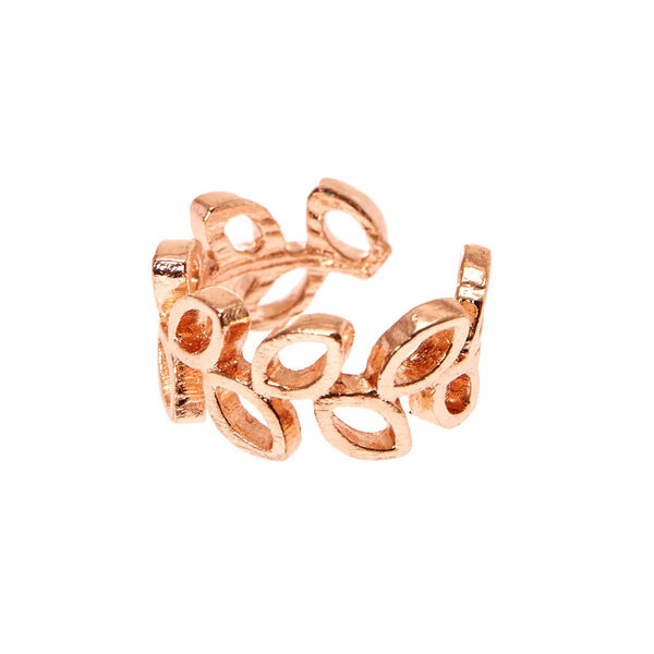 Claire's - rose tone open leaves ear cuff - 1