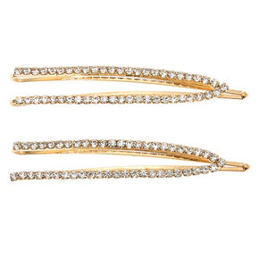Gold Rhinestone Open Hair Pins - 2 Pack,