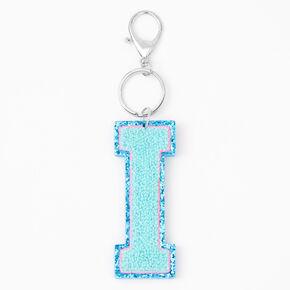 Blue Varsity Initial Keyring - I,