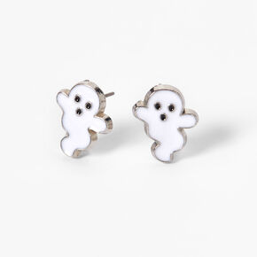 Friendly Ghost Halloween Stud Earrings,