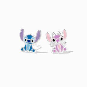 Silver USA Star Hoop Earrings - 3 Pack,