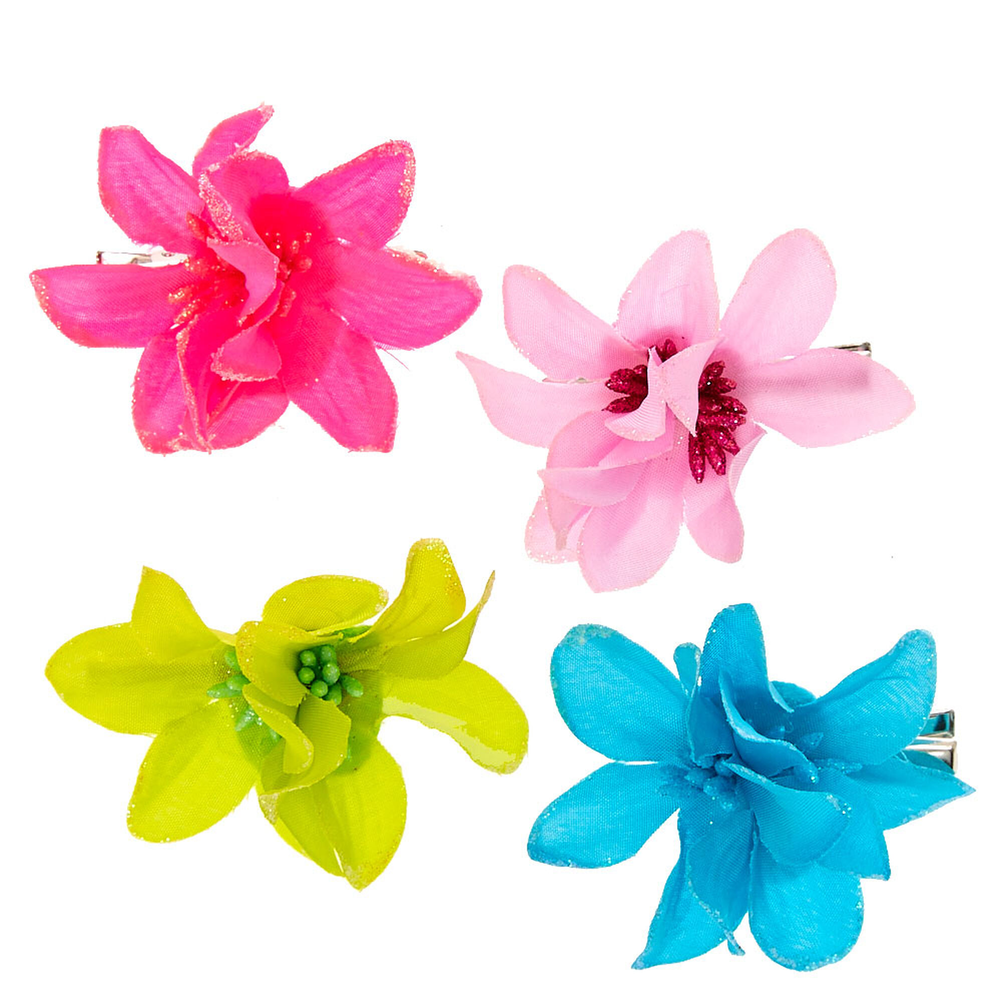 Kids Hibiscus Flower Hair Clips Claires Us