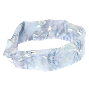 Marble Twisted Headwrap - White,