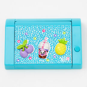 Bubble Tea Fruit Bling Mechanical Lip Gloss Set - Blue,