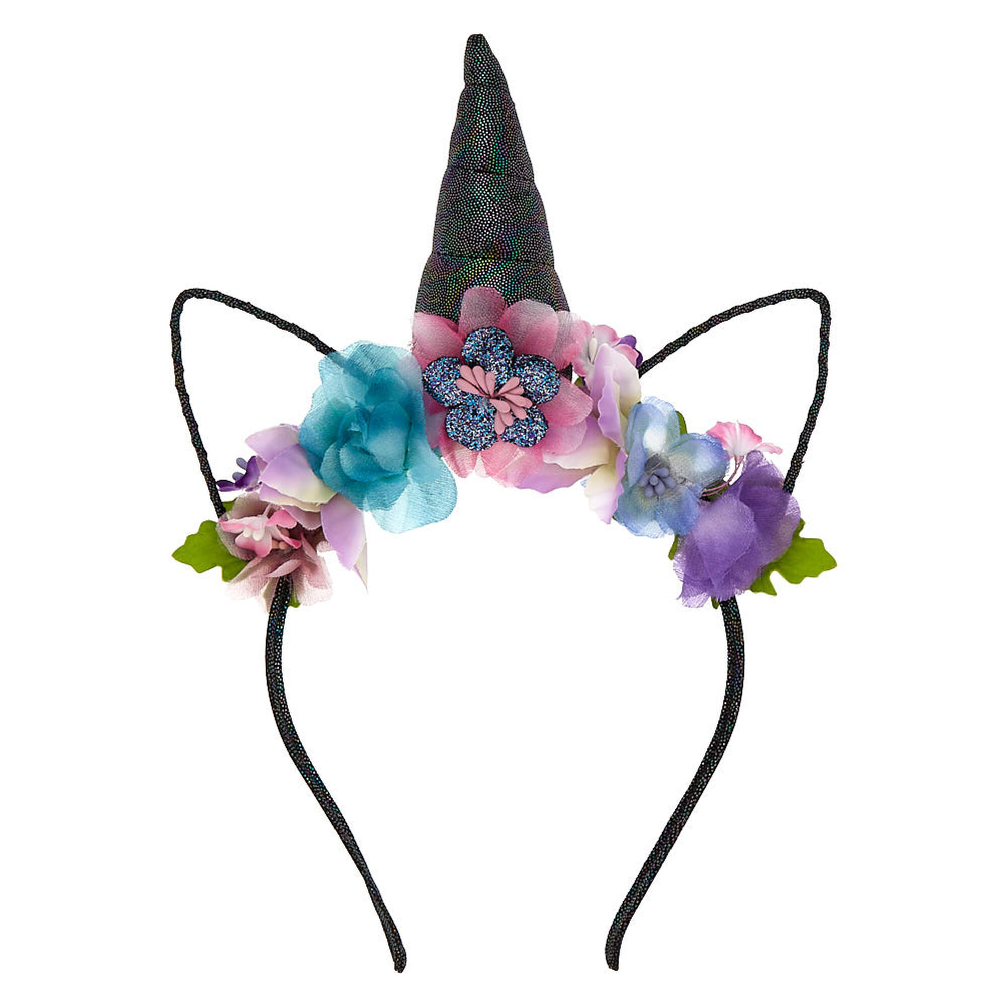 Dark unicorn flower crown headband purple claires us dark unicorn flower crown headband purple izmirmasajfo